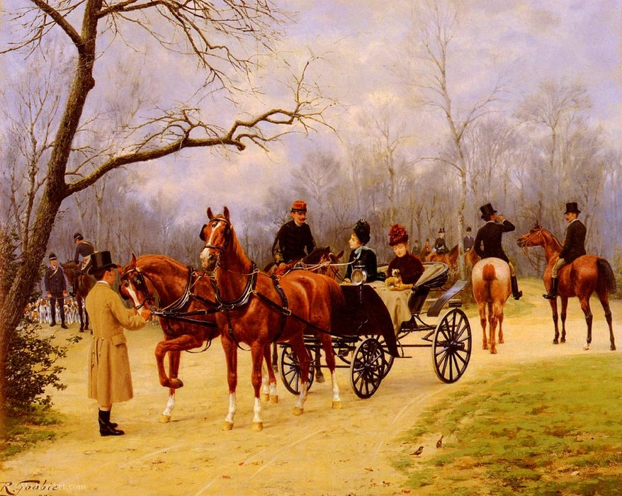 Rendez-Vous At The Meet by Jean Richard Goubie (1842-1899)
