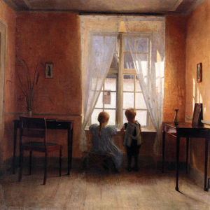 Peter Ilsted - Peder Vilhelm Ilsted Ved Vinduet ( A the Window)