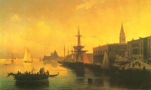 Buy Museum Art Reproductions | Venice by Ivan Konstantinovich Aivazovsky (1817-1900, Russia) | WahooArt.com