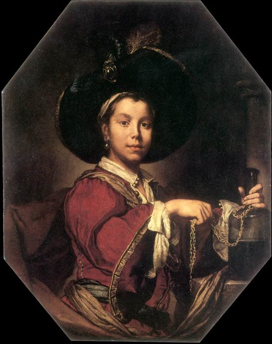 Portrait of a Young Man by Vittore Ghislandi (1655-1743) | WahooArt.com