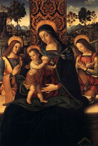 Pinturicchio - The Virgin and Child with Two Angels