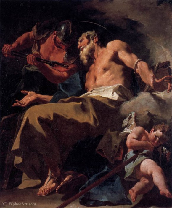 The Torture of St Thomas by Giovanni Battista Pittoni (2007-1770, Italy) | Oil Painting | WahooArt.com