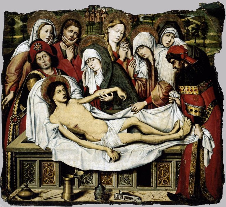 Entombment of Christ by Pedro Sanchez | Famous Paintings Reproductions | WahooArt.com