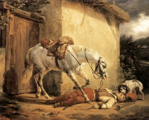 Emile Jean Horace Vernet - The wounded trumpeter