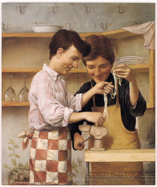 Homepasta (1) by John Currin | Art Reproduction | WahooArt.com