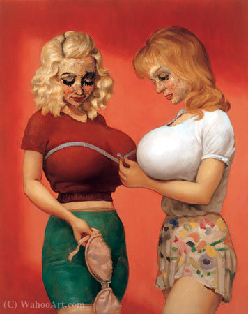 The Bra Shop (1997) by John Currin | Museum Quality Reproductions | WahooArt.com