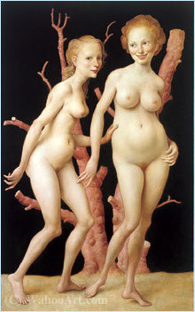 The Pink Tree (1999) by John Currin