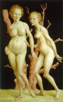 The Pink Tree 2 (1999) by John Currin