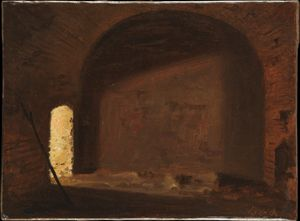 Wilhelm Ferdinand Bendz - Study of Light in a Vaulted Interior