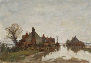 Edward Seago - Flooded Road at Beccles, Suffolk