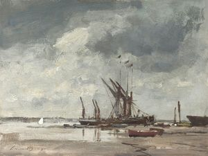 Edward Seago - Thames Barges at Pin Mill