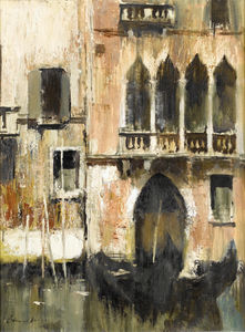 Edward Seago - The doorway, venice