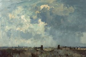 Edward Seago - The marsh gate - (02)