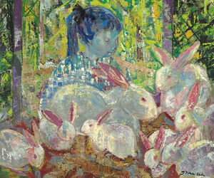 Emilio Grau Sala - The Rabbits - Pink and White, (1959)