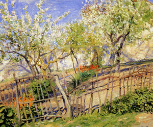 Guy Rose - Blossoms and Wallflowers