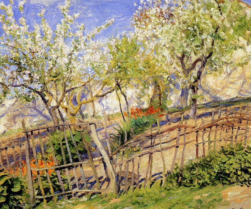 Blossoms and Wallflowers by Guy Rose (1867-1925) | Art Reproductions Guy Rose | WahooArt.com