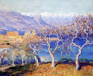 Guy Rose - Fig trees, antibes, (1910)