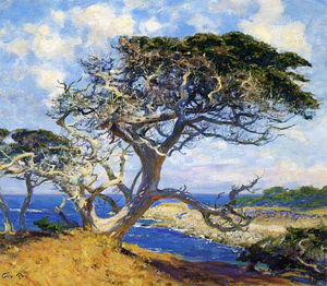 Guy Rose - Monterey cypress