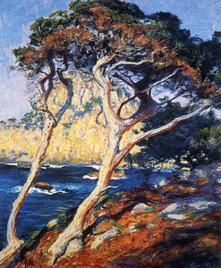 Guy Rose - Point lobos trees, (1919)