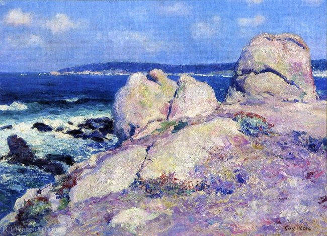 Order Paintings Reproductions | Rocks-Point Reamer by Guy Rose (1867-1925) | WahooArt.com