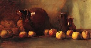 Guy Rose - Still LIfe. Jug with Fruit, (1888)
