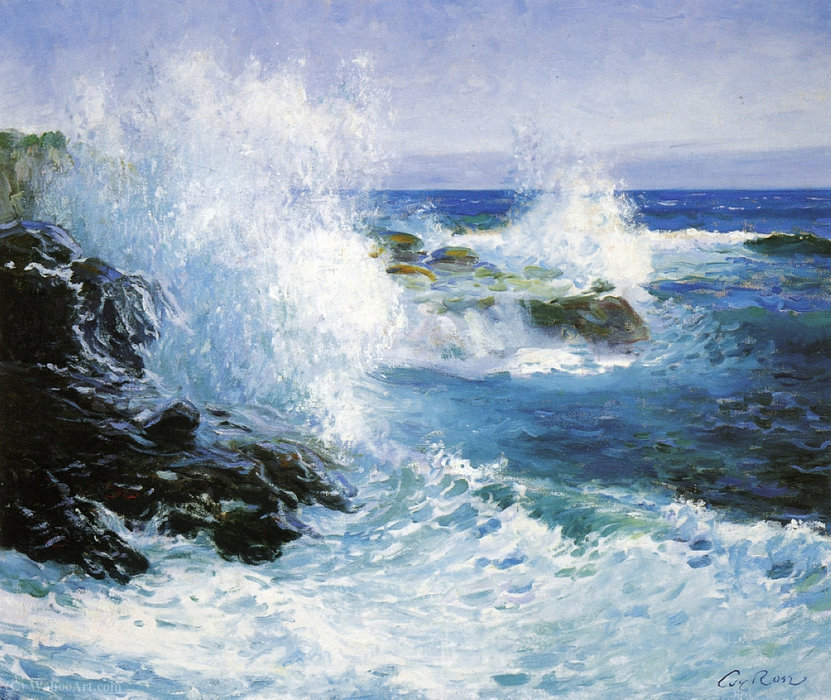 The Sea View of Cliffs by Guy Rose (1867-1925) | Art Reproductions Guy Rose | WahooArt.com