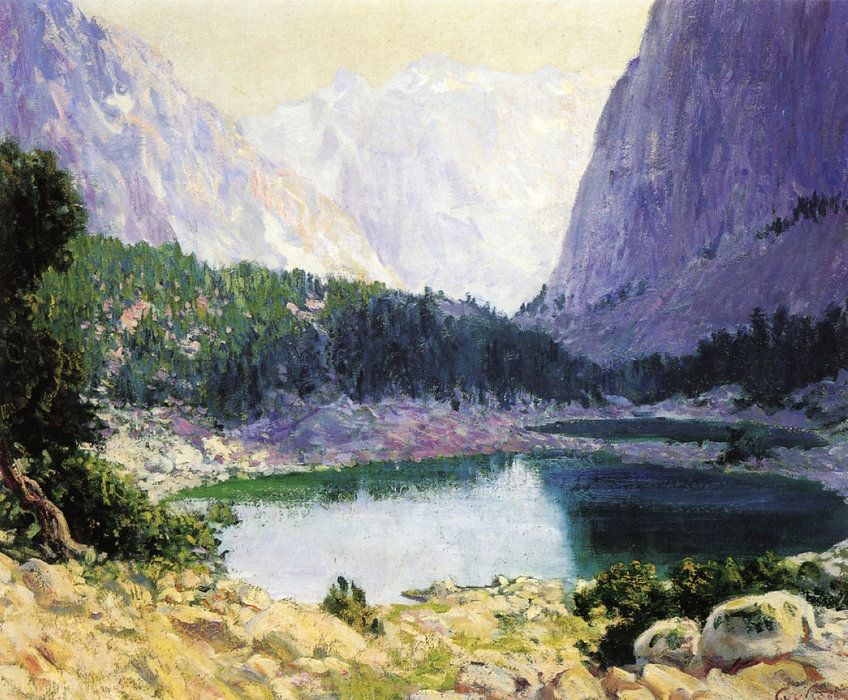 Twin lakes, high sierra by Guy Rose (1867-1925) | Paintings Reproductions Guy Rose | WahooArt.com