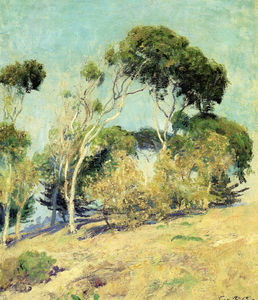Guy Rose - Windswept trees, laguna