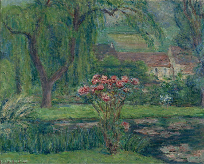 Giverny, Roses and Waterlilies by Blanche Hoschedé-Monet (1865-1947) | Art Reproductions Blanche Hoschedé-Monet | WahooArt.com