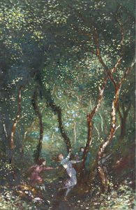 George William Russell - Figures Dancing in the Woods