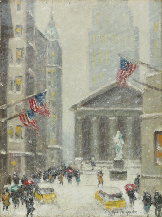 New york, winter scene, (1960) by Guy Carleton Wiggins |  | WahooArt.com