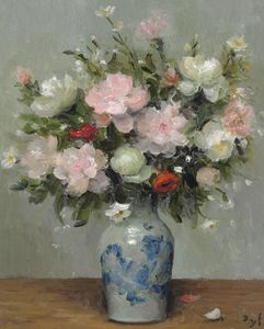 Marcel Dyf - Peonies and Anemones, (1981)