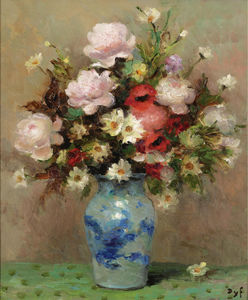 Marcel Dyf - Peonies and Anemones, (1984)