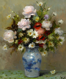 Marcel Dyf - Peonies and Papavers