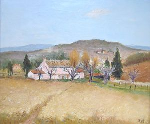 Marcel Dyf - Pink House in Provence