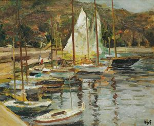 Marcel Dyf - The small port, (1950)