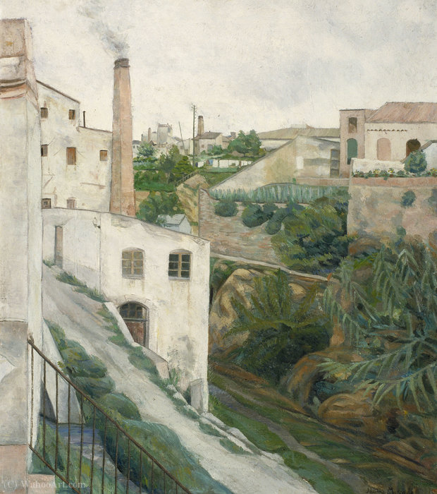 Valls), (75 x 64 CM) (1922) by Jaume Mercade Queralt | Museum Quality Reproductions | WahooArt.com