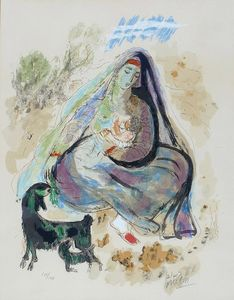 Reuven Rubin - Mother and Child