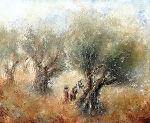 Reuven Rubin - The Way to Safed