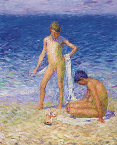 John Peter Russell - Boys on the Beach, Belle-Ile