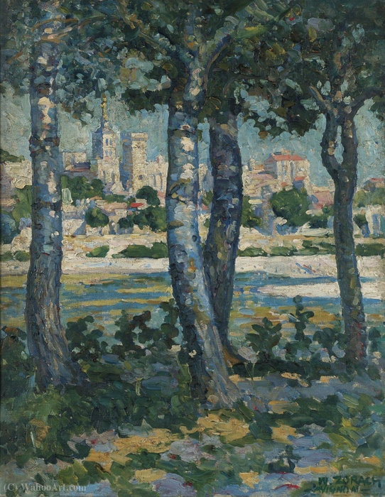 Along the Rhone, Avignon, (1910) by William Zorach (1887-1966, Russia) | Painting Copy | WahooArt.com