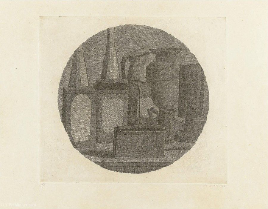 Untitled (433) by Giorgio Morandi (1890-1964, Italy)