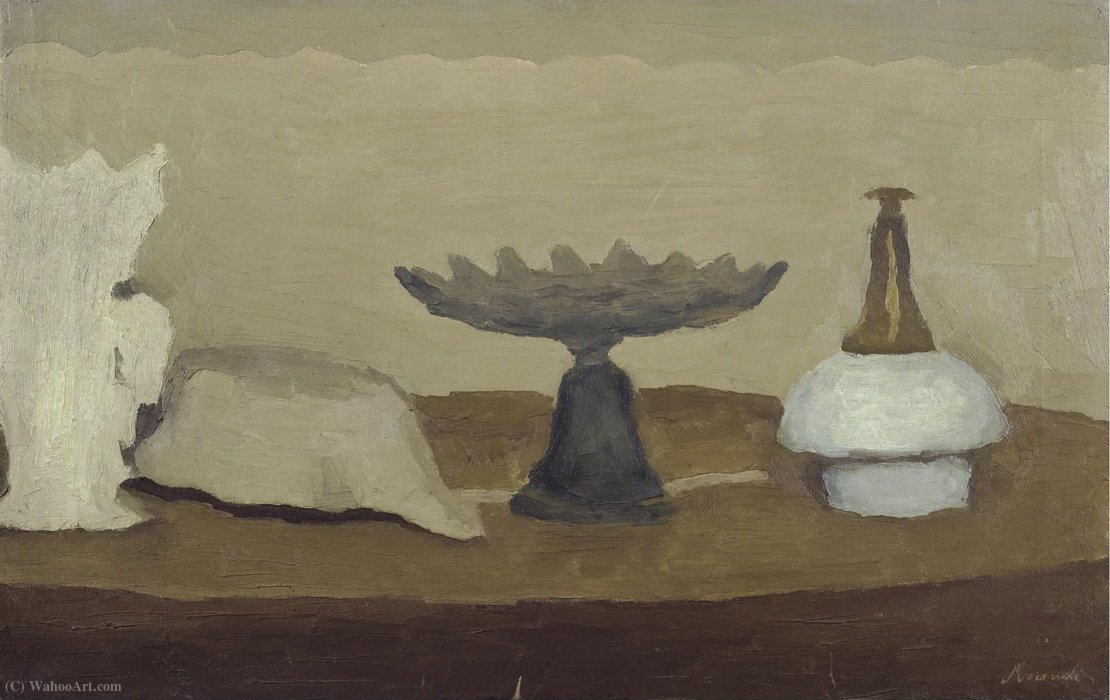 Untitled (732) by Giorgio Morandi (1890-1964, Italy) | Famous Paintings Reproductions | WahooArt.com