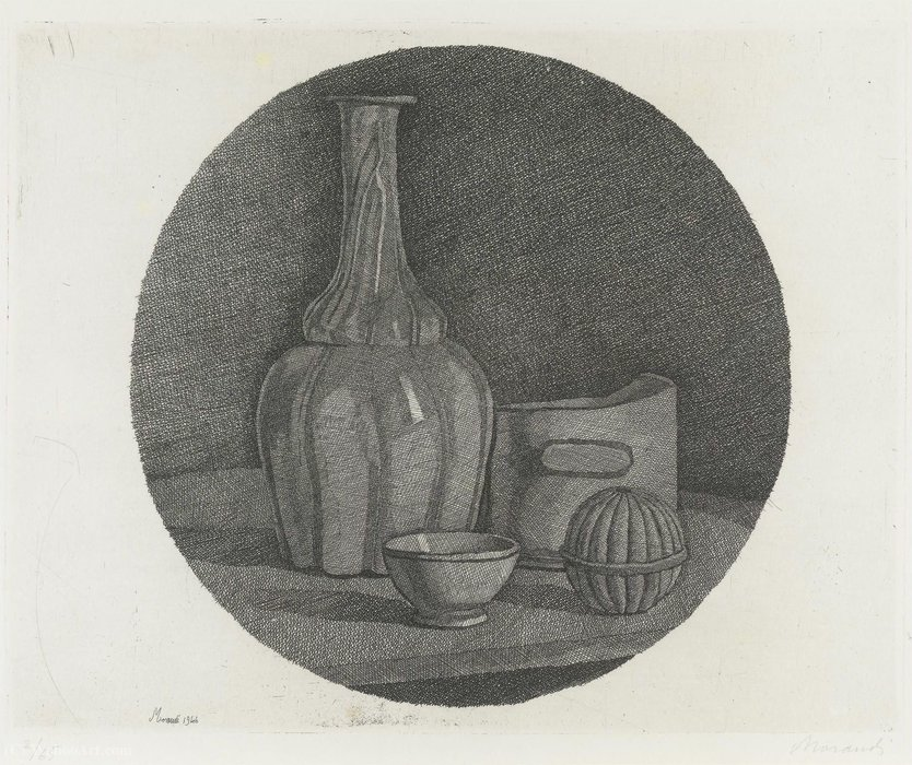 Untitled (865) by Giorgio Morandi (1890-1964, Italy)