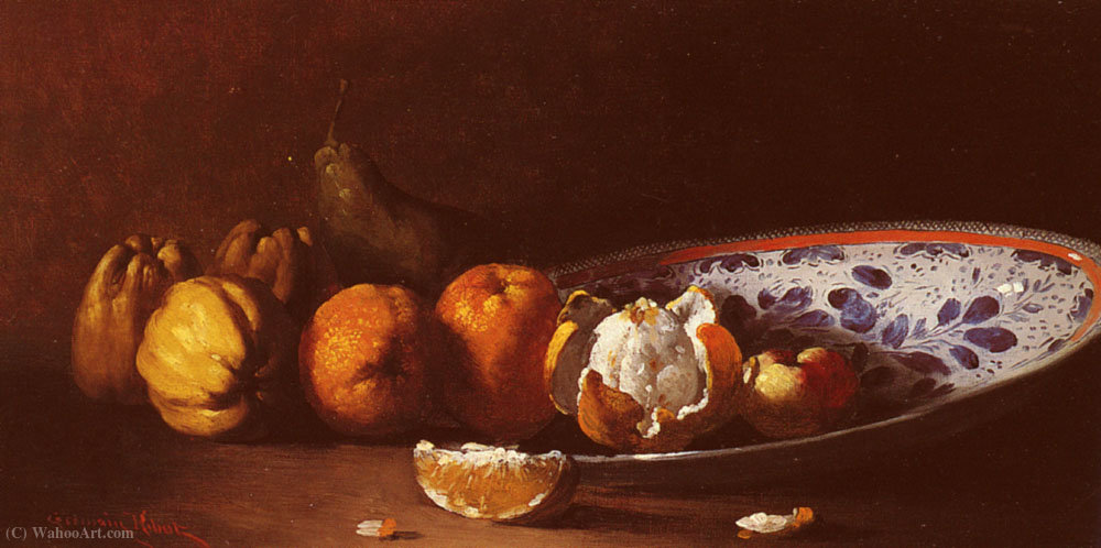 A Still Life with Fruits by Germain Ribot