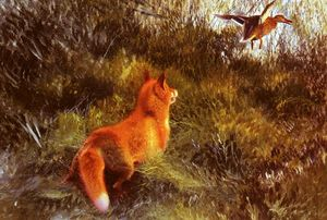 Order Reproductions | Eluding the fox by Bruno Liljefors (1860-1939, Sweden) | WahooArt.com