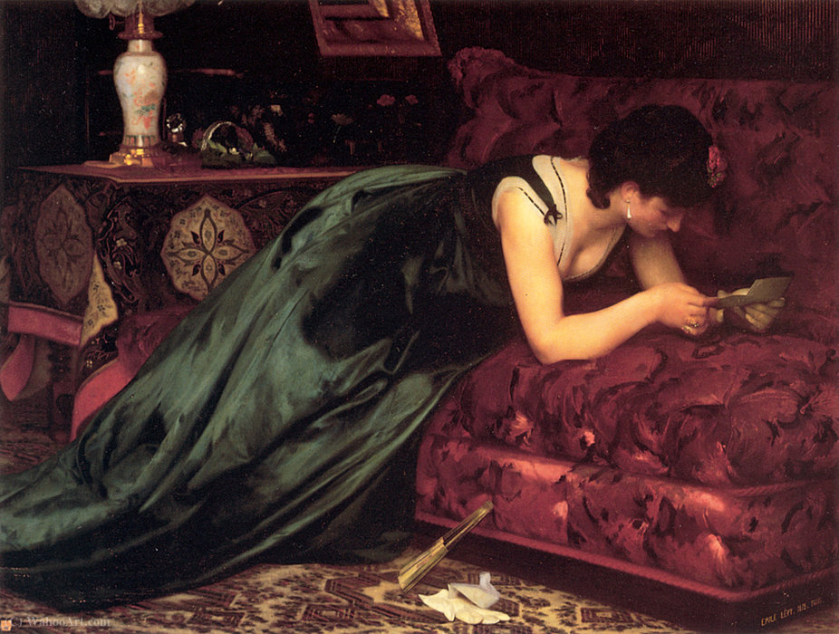The love letter by Emile Levy (1888-1890)