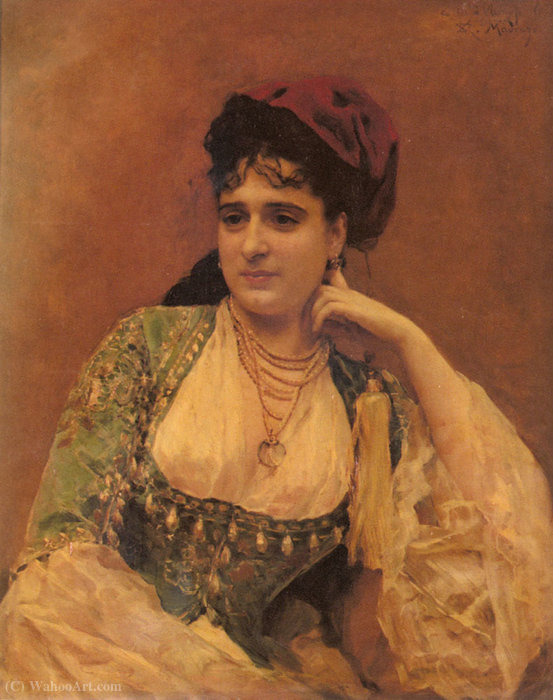 Portrait of a lady by Raimundo De Madrazo Y Garreta (1841-1920, Italy)