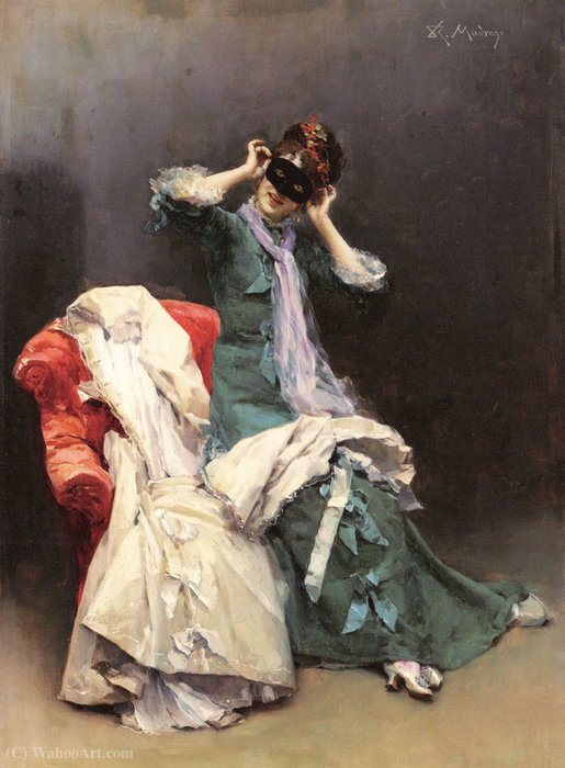 Preparing for the Costume Ball by Raimundo De Madrazo Y Garreta (1841-1920, Italy)