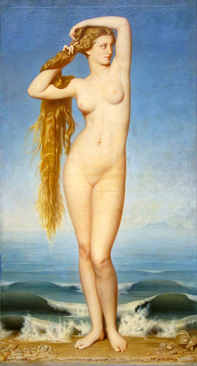 Order Museum Quality Copies | The Birth of Venus by Eugene-Emmanuel Amaury-Duval (1808-1885) | WahooArt.com